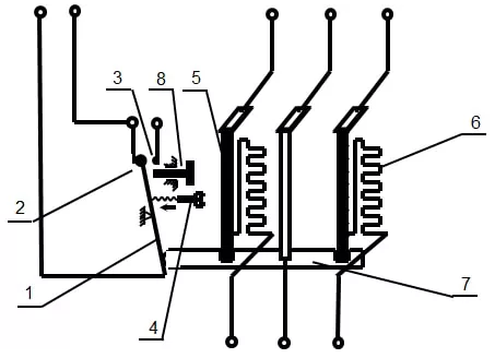 Cấu tạo Rơ le nhiệt (relay nhiệt)